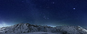 Mountain In Snow Posters - Star Panorama Poster by RICOWde