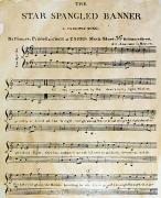 Old Sheet Music Posters - Star Spangled Banner, 1814 Poster by Granger