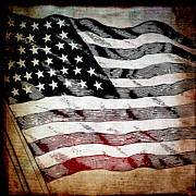 Usa Mixed Media Metal Prints - Star Spangled Banner Metal Print by Angelina Vick