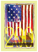 Star Spangled Banner Digital Art - Star Spangled Banner Bicentennial Art Print Poster  by John De Santis
