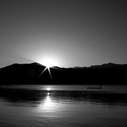 Refection Prints - Star Sunrise on Priest lake Print by David Patterson