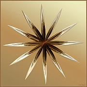 Brown Print Mixed Media - Star Tan by Deborah Benoit