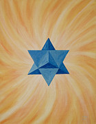 Sacred Painting Originals - Star Tetahedron by Silvia Flores