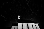 Abandoned Digital Art - Star tracks over Saint Columba Anglican Country Church by Mark Duffy