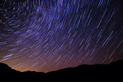 Star Trails Prints - Star Trails and Meteor over Vermont Mountains Photo Print by Stephanie McDowell