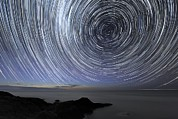 Moonlit Night Photos - Star Trails Over Flinders, Australia by Alex Cherney, Terrastro.com
