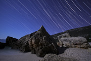 Pollux Prints - Star Trails Over Portugal Print by Miguel Claro