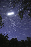 Light Rays Prints - Star Trails Taken From Alentejo, Elvas Print by Miguel Claro