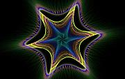 Apophysis Mixed Media - Star Twist Spiral by Deborah Benoit