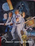 George Harrison Art - Star Wars by Sandeep Kumar Sahota