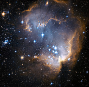 Astrophysical Posters - Starbirth Region Ngc 602 Poster by Hubble Heritage Teamnasaesastsciaura