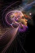Fractal Digital Art Posters - Starborn Poster by John Edwards