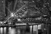 Chicago Black White Posters - Starbright Poster by Jeff Lewis