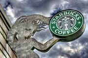 Starbucks Coffee Print by Spencer McDonald