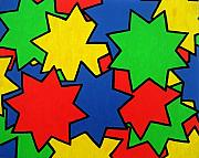 Multi-coloured Metal Prints - Starburst Metal Print by Oliver Johnston