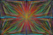 Radiating Digital Art - Starburst by Tim Allen