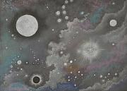Atmospheric Drawings Prints - StarDust Print by Janet Hinshaw