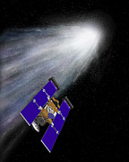 Spacecraft Photos - Stardust Spacecraft At Comet Wild-2 by Nasa