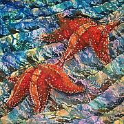 Sealife Tapestries - Textiles Metal Prints - Starfish 1 Metal Print by Sue Duda