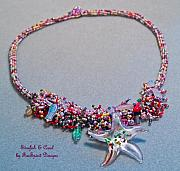 Beach Jewelry Originals - Starfish and Coral by Patricia Griffin Brett