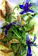 Violet Blue Art - Starflower by Anne Duke