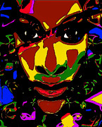 African-american Digital Art Prints - Starlaya Print by Devalyn Marshall