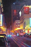 Night Scenes Painting Prints - Starlight Print by Aaron Memmott