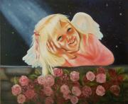 Angel Paintings - Starlight Angel by Joni McPherson