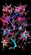 Decorative Abstract Digital Art Prints - Starlight Print by Christine Crawford