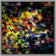 Abstract Stars Digital Art Framed Prints - Starlight Framed Print by Susan  Epps Oliver