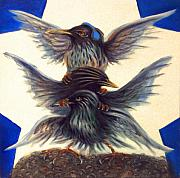 Starlings Paintings - Starling Totem by Don Wesley