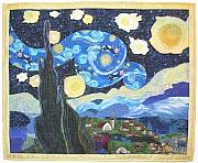 Night Tapestries - Textiles - Starry Flight by Salli McQuaid