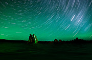Startrails Photo Originals - Starry Landscape by Marius Sipa