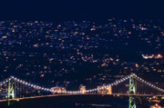 Night Scenes Photo Originals - Starry Lions Gate Bridge - MDXXXII by Amyn Nasser by Amyn Nasser