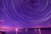 Starry Night Of Cayuga Lake Print by Paul Ge