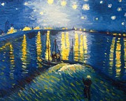Andrea Realpe - Starry Night Over the...