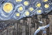 Wingsdomain Paintings - Starry Nights in San Francisco 1985 by Wingsdomain Art and Photography