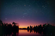 Starry Sky Framed Prints - Starry Sky Over Vancouver, Canada Framed Print by David Nunuk