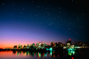 British Columbia Photo Originals - Starry sky over Vancouver by David Nunuk