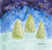 Kpappert Posters - Starry Trees Poster by Karen Pappert
