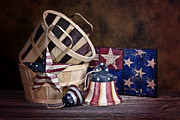Baskets Posters - Stars and Stripes Still Life Poster by Tom Mc Nemar