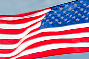 Stars And Stripes Prints - STARS AND STRIPES waving USA flag in a strong wind Print by Andy Smy