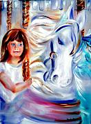 Merry-go-round Painting Originals - Stars in Their Eyes by Sandy Ryan
