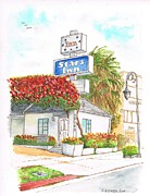Motel Painting Prints - Stars-Inn-Motel-Century-City-CA Print by Carlos G Groppa