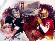 Raiders Paintings - Stars Of The Bay by Phil  King