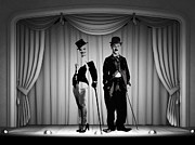 Chaplin Prints - Stars on Stage Print by Stefan Kuhn