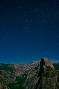 Moonlight Photos - Stars Over Half Dome by Adam Pender
