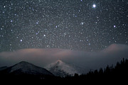 Astronomy Photo Prints - Stars Over Rocky Mountain National Park Print by Pat Gaines