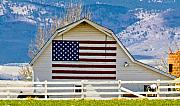 Colorado Flag Photos - Stars Stripes and Barns by Marilyn Hunt