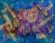 Entertaining Mixed Media Prints - Starship Vortex Print by Don  Wright